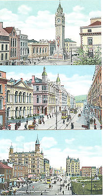 Belfast, three unused early picture postcards