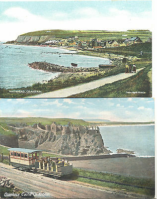 County Antrim, two unused picture postcards