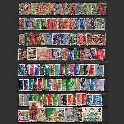 GREAT BRITAIN: lot of 100+ stamps -- used --