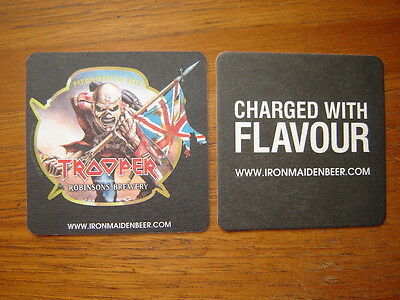 2  Trooper  Robinsons  Brewery  Beer  Mats / Coasters / Sous Bock  New