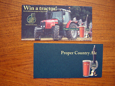 2  Large   Ruddles  County  Beer  Mats / Coasters /sous Bock   New