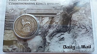 First World War Commemorative King's Shilling Coin Daily Mail ww1 1914