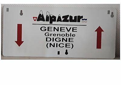 Reproduction plaque d'itinéraire sncf Alpazur Train Chemin de fer
