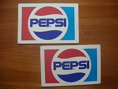 2  Retro  Large  Pepsi  Drip Mats /  Beer  Mats / Coasters  New