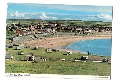Old Postcard, KILKEE houses, caravans, 1969, Co. Clare