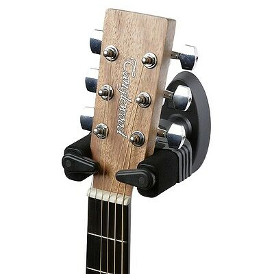 Two New Wall Mounting Acoustic Or Electric Guitar Hangers Lock In When Hung