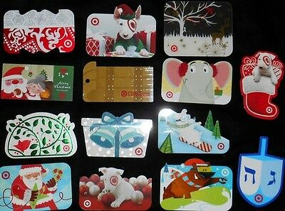 14 Collectible Gift Card TARGET Holiday Shapes Store All Dif Lot No Value <2010