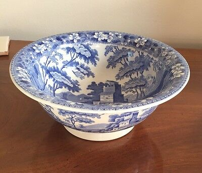 """Copeland Transfer Printed """"Tower Pattern"""" Footed Bowl c1855"""