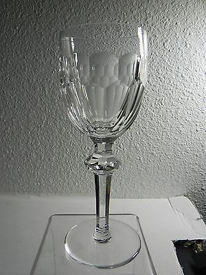 """Waterford Ireland Cut Crystal CURRAGHMORE Claret Wine Glass 7-1/8"""" Signed EXC"""