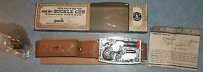 1958 Mattel Shootin' Shell Derringer Buckle Gun in Original Box WITH BELT