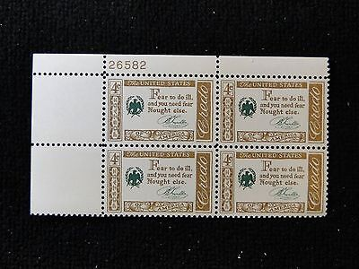 Scott # 1140 - Plate Block of 4 - Mint N H  - Credo Franklin (UL) free shipping