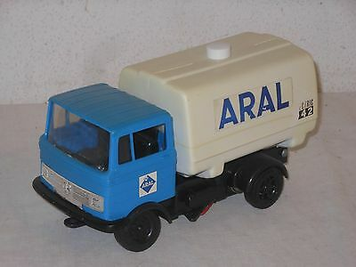 MERCEDES BENZ - ARAL ELECTRIC LKW 23cm VINTAGE TOY - PLAY BIG - WEST GERMANY - 9