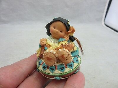 1997 Little One Enesco Friends of the Feather Native American girl figurine
