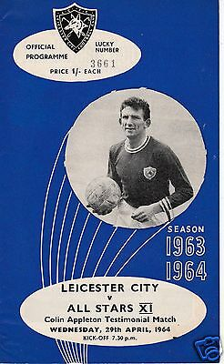 Leicester City V All Stars Xi Colin Appleton Testimonial 29/4/64