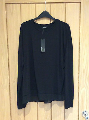 Marks & Spencer Autograph Black Viscose Top Size 18 New