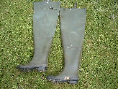 A Vintage Pair Of Mucilin Steel Shank Size Eight Fishing Waders