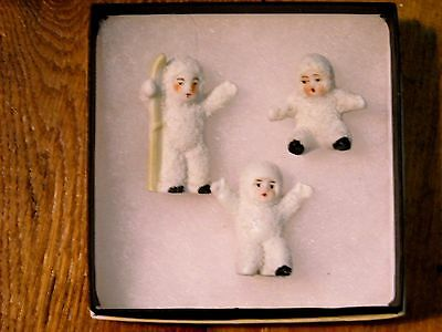 Vintage set 3 Mini German Porcelain Snow Babies