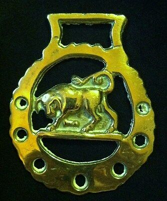 Light Weight PAWING BULL Horse Harness Brass England BULL gift WOW YOUR WALLS!