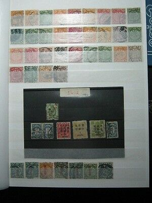 Chinese Stamps - 10 Pages of Chinese Stamps - Imperial / Republic & Overprints