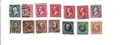 Us Stamp Lot Scott #247-260. 1894. 1 Cent - 50 Cent.  14 Stamps. Used No Rsv.