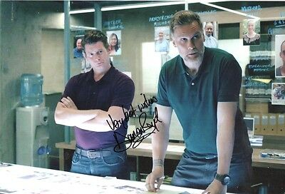 STAN LEE'S LUCKY MAN - personally signed 12x8 Darren Boyd as DC Orwell (a)