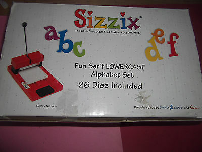 SIZZIX ALPHABET * FUN SERIF * 26 x LOWERCASE DIES * + FREE CRAFT GIFTS !