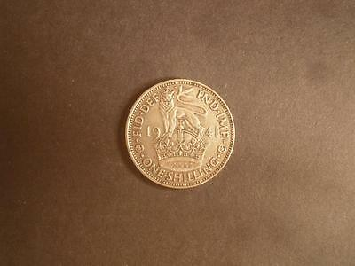 1941 GB KGVI English 1/- One Shilling .500 Silver Coin