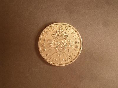 1951 GB KGVI Florin 2 Two Shillings Copper-Nickel Coin