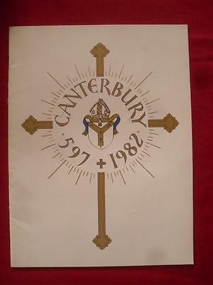 Canterbury 1982 Souvenir of Special Service for the Visit of Pope John Paul II