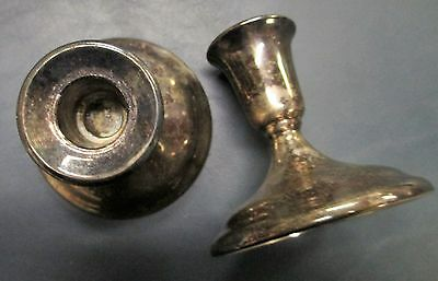 Pair of Vintage Silver Plated Candle Holders International Silver 4 inch height