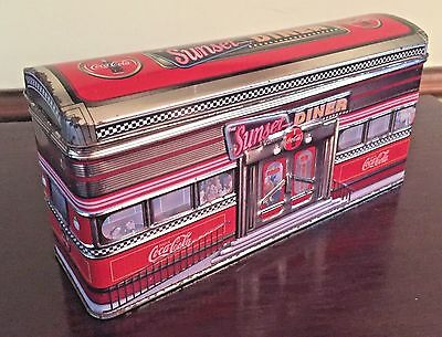 COCA COLA Metal Candy Tin - Sunset Diner Retro 1950's Style Train Car