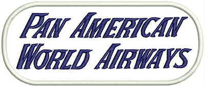 Pan American World Airways 1950's back patch