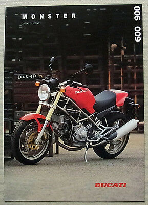 DUCATI MONSTER M600 & M900 MOTORCYCLES Sales Brochure Nov 1994 #GBD 10.1994