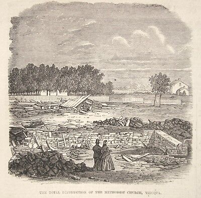 Orig 1865 VIROQUA WI WISCONSIN Vernon County GREAT TORNADO 3 PRINTS-INDEPTH!