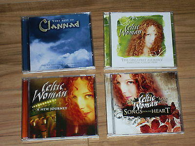 Celtic Woman- New Journey- Songs From The Heart-Clannad Very Best-IRISH - 4 CD'S