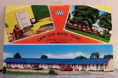 New York NY Waterloo Cape Cod Motel Court Postcard Old Vintage Card View Post PC