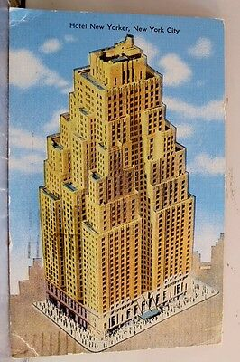 New York NY NYC Hotel New Yorker Postcard Old Vintage Card View Standard Post PC