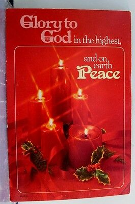 Christmas Xmas Glory to God Peace On Earth Postcard Old Vintage Card View Post