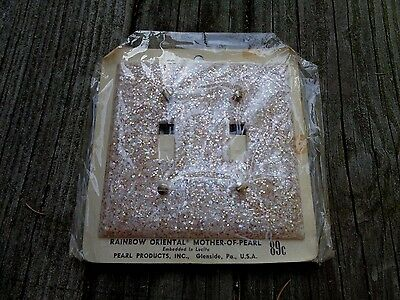 Vintage Nos Mother Of Pearl Lucite Outlet Switch Plate Cover Electrical Pink