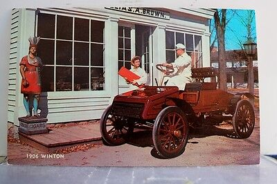 Car Automobile 1906 Winton Postcard Old Vintage Card View Standard Souvenir Post