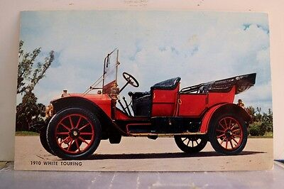 Car Automobile 1910 White Touring Postcard Old Vintage Card View Standard Post