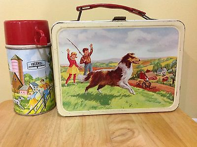 1962 Pets and Pals Lassie Lunchbox and Thermos