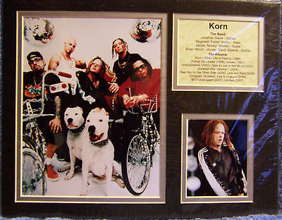 "Korn Jonathan Davis Reginald Arvizu James Shaffer Brian Welch Bio Art 14""x11 New"