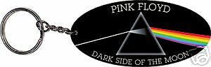 """Pink Floyd Dark Side Of The Moon Dsom Oval Rubber Key Chain New  3 1/3""""x1 1/2"""""""