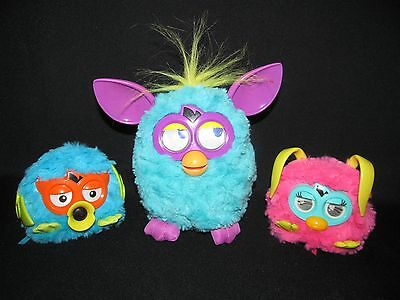 2012 Furby Boom Purple Turquoise Yellow Pink Party Rocker Furbling Lot