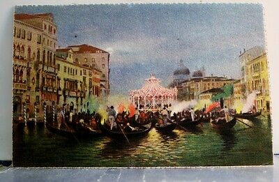 Italy Venice Grande Canal Serenate Postcard Old Vintage Card View Standard Post
