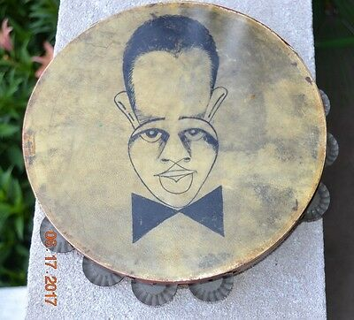 Tambourine with image of Duke Ellington, by famous caricaturist Al Hirschfeld