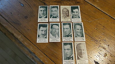 1930's S.S.KRESGE CO COLLECTOR MOVIESTAR Fortune CARDS A & B Series, 10 Mini