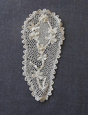 Antique Victorian Irish Crochet Lace Applique F Clothing Or Crafts Unused #5942A