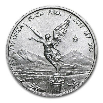 MEXIQUE  Argent 1/10 Once Libertad 2017 - 1/10 Oz silver coin